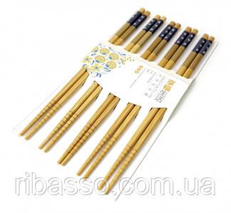 9220011 Палички для їжі бамбук з картинкою в блістері набір 5 пар №2