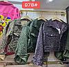 Леопардовая короткая джинсовка со змейками 42-44 (в расцветках), фото 3