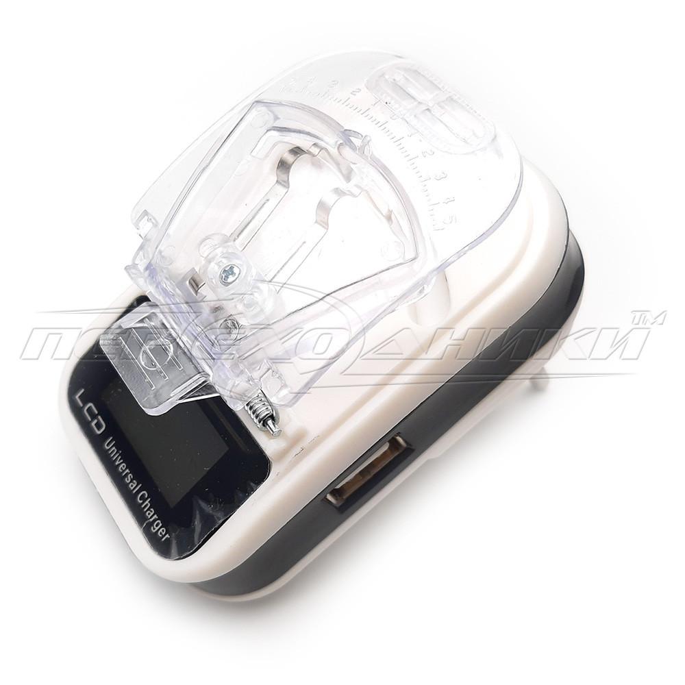 Адаптер (жабка) для зарядки акумуляторів мобільних телефонів з екраном