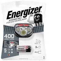 Налобний ліхтар Energizer Vision HD+Focus Headlight HDD323 (400 Lumens, IPX4, 5 режимів)