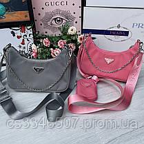 Женская сумка Prada RE-EDITION розовая.Сумка Прада, фото 2