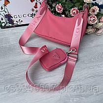 Женская сумка Prada RE-EDITION розовая.Сумка Прада, фото 3