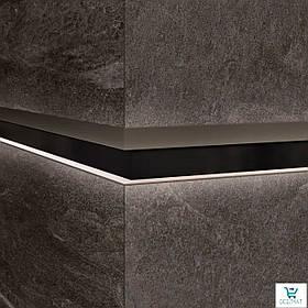 Алюминиевый профиль LQL/2 декоративная вставка для крупногабаритных плит с Led подсветкой 10х59,6х2800мм. Металл темный