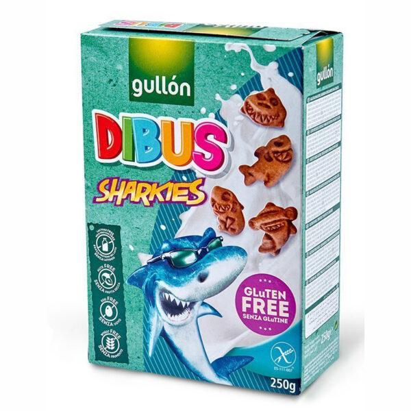 Печиво GULLON, без глютену, Dibus sharkies , 250 г