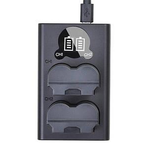 Двойная зарядка Newell для аккумулятора NP-W235 Type-C и MicroUSB