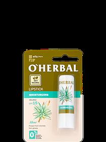 Зволожуюча гігієнічна помада з екстрактом алое віра SPF15 O Herbal 4.8 м