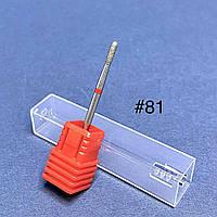 Насадка алмазна для апаратного манікюру червона №81