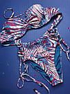 Купальник Бандо Victoria's Secret Плавки з високою талією р. 32В (70В) / S, Синій, фото 4