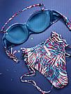 Купальник Бандо Victoria's Secret Плавки з високою талією р. 32В (70В) / S, Синій, фото 5