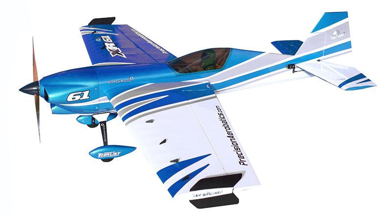 Самолёт радиоуправляемый Precision Aerobatics XR-61 1550мм KIT (синий)