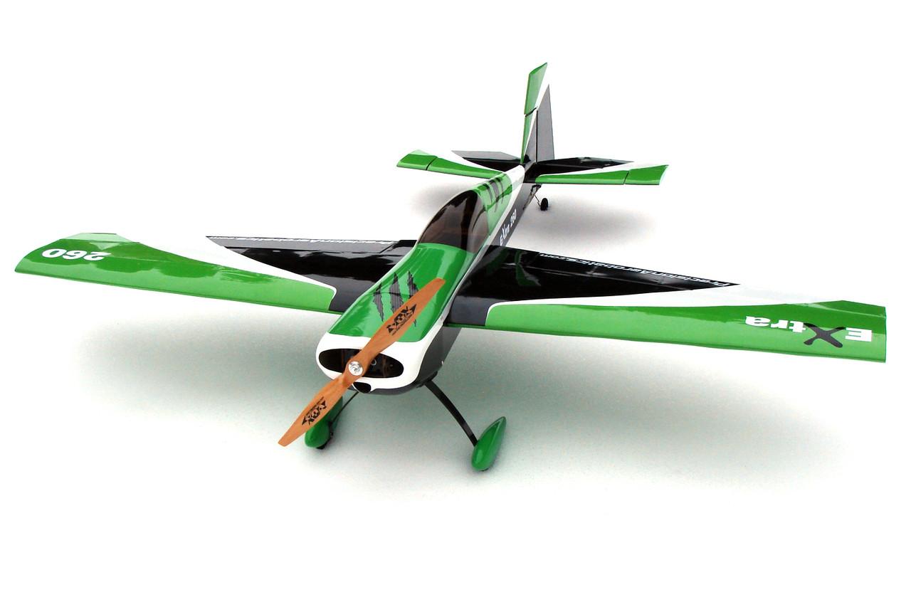 Самолёт радиоуправляемый Precision Aerobatics Extra 260 1219мм KIT (зеленый)