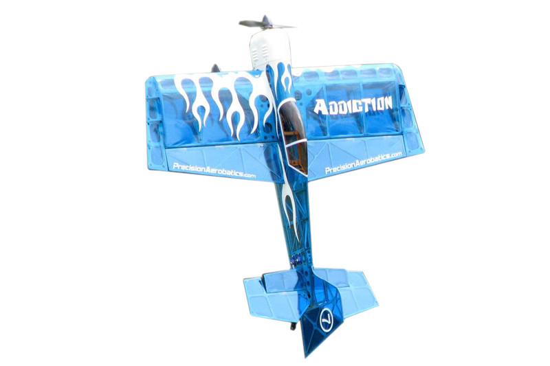 Самолёт радиоуправляемый Precision Aerobatics Addiction 1000мм KIT (синий)
