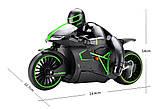 Радіокерований Мотоцикл 1:12 Crazon 333-MT01 (зелений), фото 7