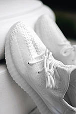 Мужские кроссовки Adidas Yeezy Boost 350 V2 Triple White, фото 3
