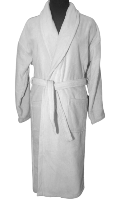 Банный женский махровый халат, р-р Л 52-54 Турция Хлопок светло серого цвета
