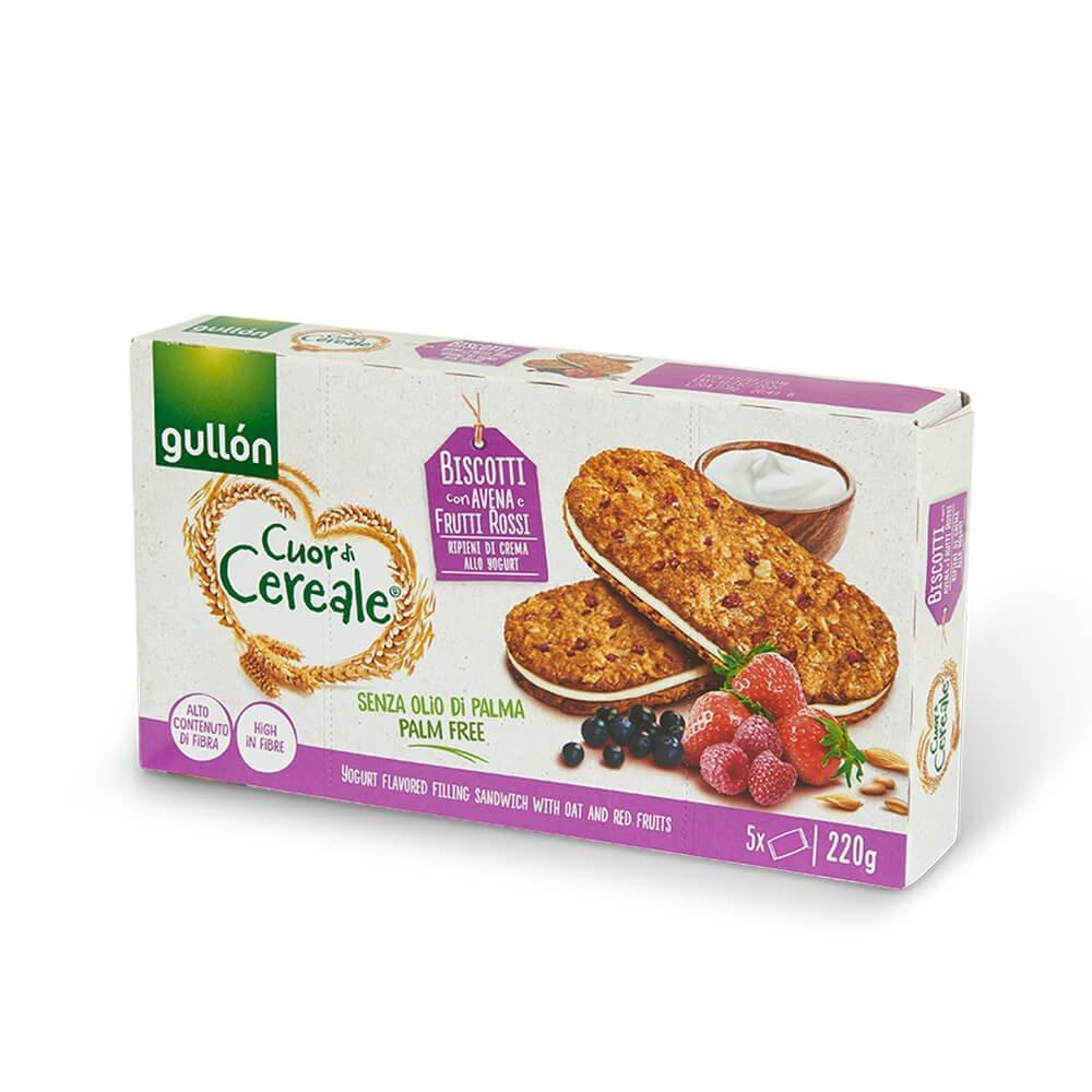 Печиво GULLON сендвіч вівсяне з йогуртовим кремом, 220 г