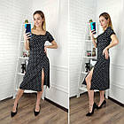 Платье женское с разрезом,  сиреневый, фото 2