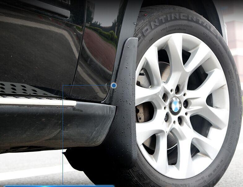 Бризковики повний комплект для BMW X5 (Е70) з порогами 2007-2013 (повний кт 4 шт), кт.