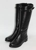 Женские кожаные сапоги, цвета в ассортименте, фото 1