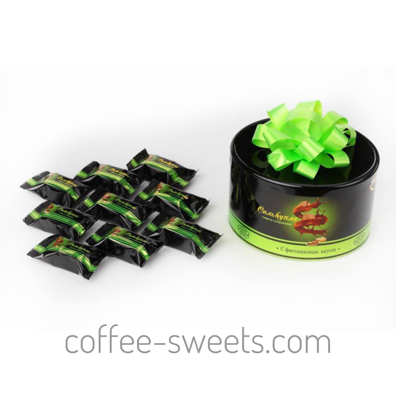 Шоколадні цукерки АтАг Сильвупле з фісташковим смаком 200г