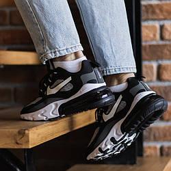 Air Max 270 React Black Grey Кроссовки | кеды | обувь | тапки