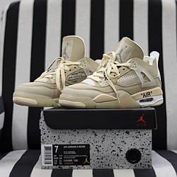 Air Jordan 4 Retro Off White Sail Кроссовки | кеды | обувь | тапки