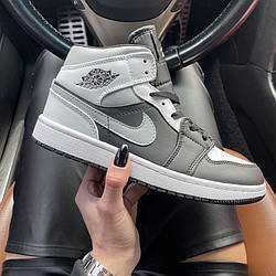 Air Jordan 1 Mid Gray Black Кроссовки | кеды | обувь | тапки