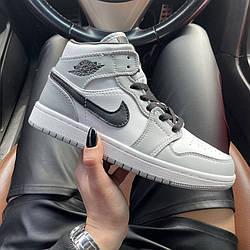Air Jordan 1 Mid Smoke Gray Кроссовки | кеды | обувь | тапки