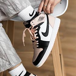 Air Jordan 1 Mid Pink Black Кроссовки | кеды | обувь | тапки