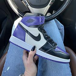 Air Jordan 1 Mid Court Purple Кроссовки | кеды | обувь | тапки