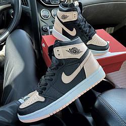 Air Jordan 1 Mid Black Pink Кроссовки | кеды | обувь | тапки