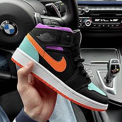Air Jordan 1 Mid Multicolor Кроссовки | кеды | обувь | тапки