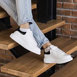 White Black Leather Кроссовки | кеды | обувь | тапки