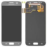 Дисплей для Samsung G930 Galaxy S7, серебристый, с сенсорным экраном, Original, #GH97-1852
