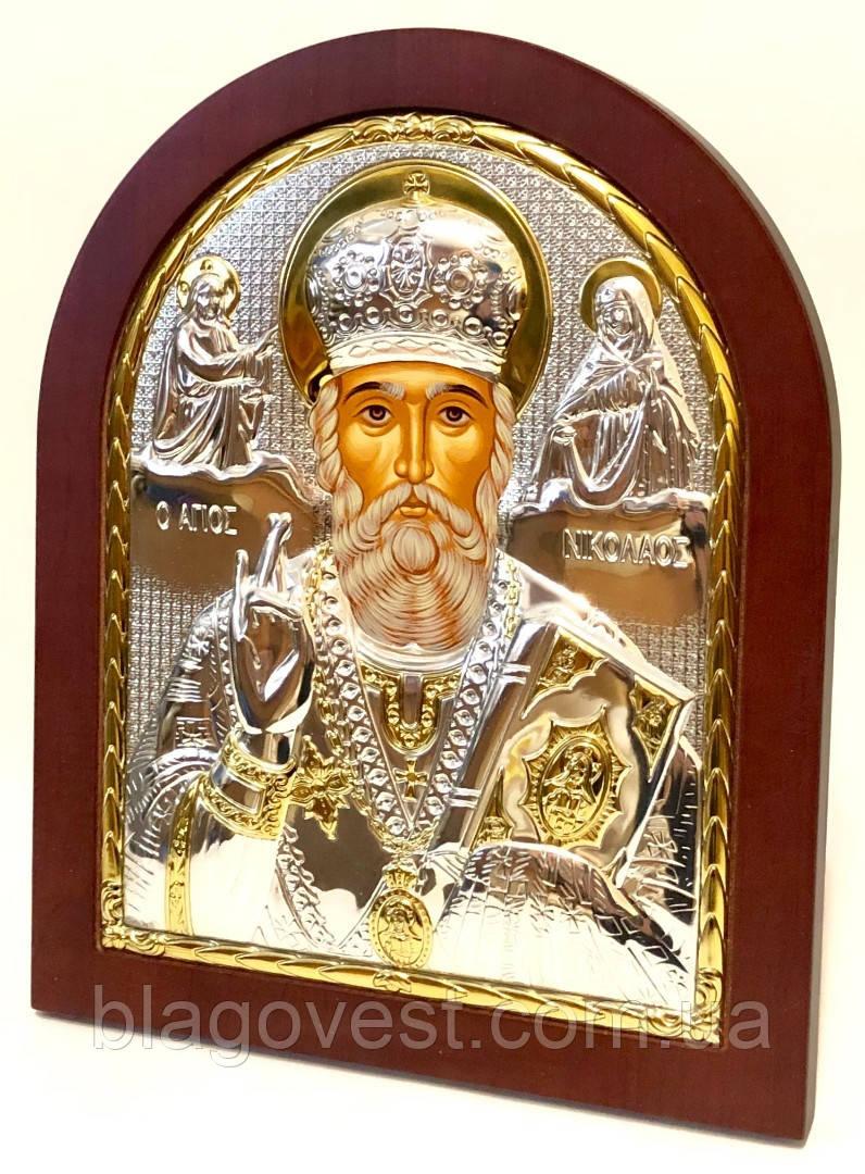Икона св. Николай 115х125мм ek3-009 (9.6) К