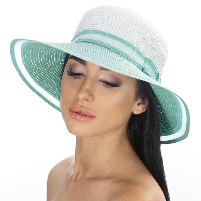 Річна капелюх прикрашена стрічкою колір білий+ чорний