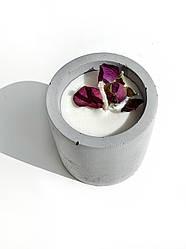 Свеча в бетоне из соевого воска Decoline (сер.) (v-70 мл) S1003-2