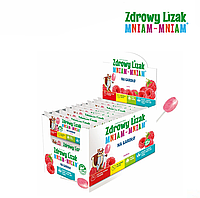 Леденец Zdrowy Lizak Mniam-Mniam для горла (малина), 40 шт
