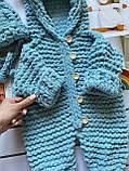 Детский вязаный мягкий плюшевый комбинезон из гипоаллергенной пряжи для девочки и мальчика ручной работы., фото 5