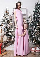"""Детское длинное нарядное платье с открытой спиной """"Мальвина Макси"""" в расцветках"""