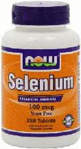 Селен, Now Foods, Selenium, 100 mcg, 250 tab