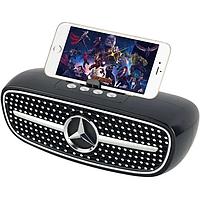 Колонка Bluetooth с подставкой для телефона в стиле мерседес Golon Чёрная (RX-X8BT)