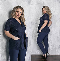 Женский костюм двойка большого размера.Размеры:50/64+Цвета