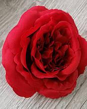 Троянди Девіда Остіна (піоновидна) з тканини - 9 см Червона