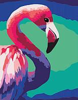 """Набор, акриловая живопись по номерам, """"Pink flamingo"""", ROSA START~#~Набір, техніка акриловий живопис за"""