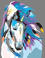 """Набор, акриловая живопись по номерам, """"Indian horse"""", ROSA START~#~Набір, техніка акриловий живопис за"""
