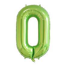 """Фольгована цифра Slim STAR оливковий """"0"""" 40"""" (102см) в упаковці"""