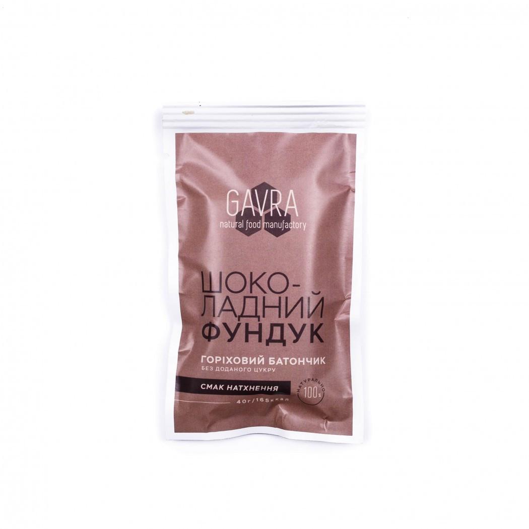 Батончик Gavra шоколадный фундук, 40г