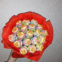 Букеты из конфет Принцессе чупа-чупсы макси