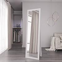 Зеркало в полный рост напольное 170х50 Black Mirror Белое матовое с ножкой упором в комнату спальню
